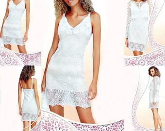 Women's white dress with jacket / custom