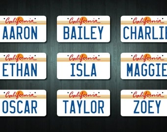 Personalized California USA Style License Plate Sticker