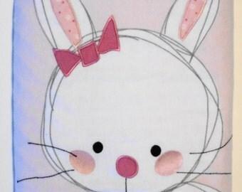 Bunny Blanket, Pink Blanket, Newborn Blanket, Toddler Minky Blanket, Baby Girl Blanket, Crib Blanket, Stroller Blanket, Baby Quilt