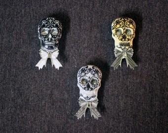 Plastic Decorative Skull Magnets
