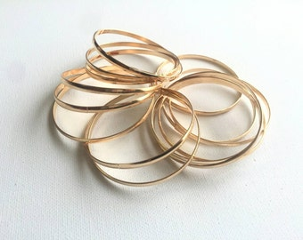14 Gold bangles set