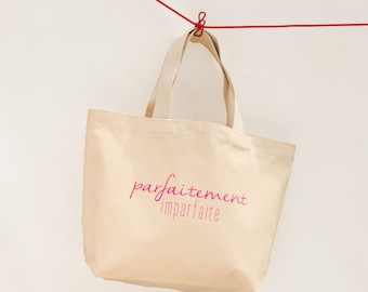 """""""Perfectly imperfect"""" thick cotton tote"""