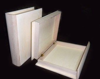 2 pc Unfinished Book Boxes