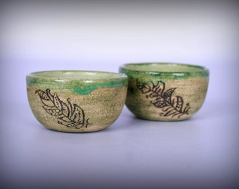 """Two unusual bowls """"Feathers"""""""