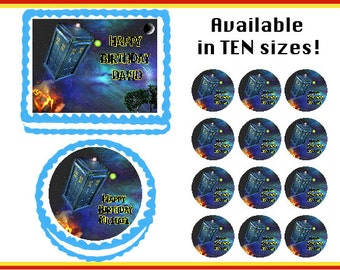 Doctor Who  Edible Birthday Cake Cupcake Cookie Topper Party Decoration Icing Sheets