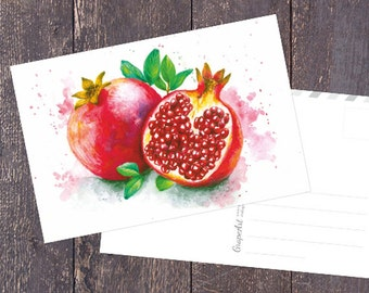 Pomegranate Postcards, Set of 5