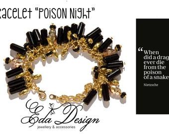 Eda Design Bracelet Poison night with Swarovski elements