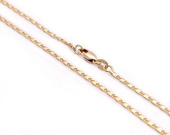 "18k Yellow Gold Filled Cable Valentino Chain Necklace Pendant 16"" 18"" 20"" 22"" 24"" 26"""