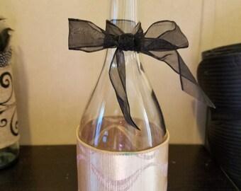 Champagne & Pearl Wine Bottle