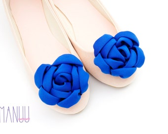 Blue flowers - shoe clips Manuu,Bridal shoe clips, Wedding shoe clips