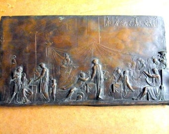 Metal Bas-Relief «The Pir of Penelope's Suitors», Fedor Tolstoy's series The Odyssey, 1818