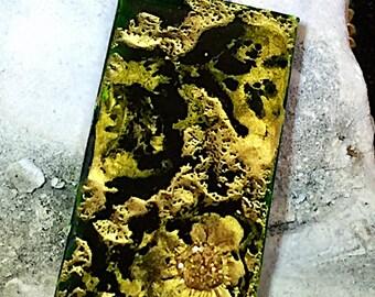 Fetache Bold Pendant - Enchanted Moss - Handmade Artistic Alchemy OOAK Created Fantasy Stone