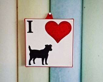 I Love Dogs canvas - All breeds available