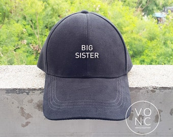 Big Sister Baseball Hat Embroidery Hat Fashion Hipster Cap Cotton Cap Pinterest Instagram Tumblr