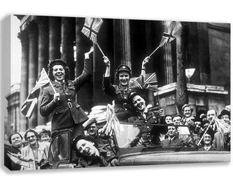 BRITISH VE DAY Celebration Victory In Europe Canvas Wall Art