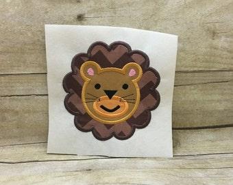 Lion Applique, Lion Face Embroidery Design Applique, Lion Face Applique