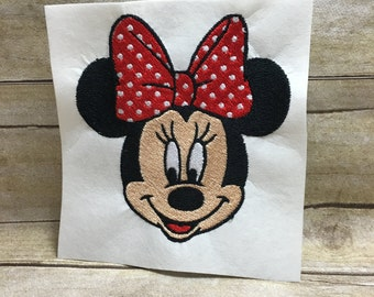 Minnie Embroidery Design, Minnie Mouse Embroidery Design