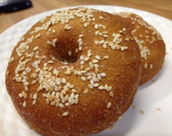 Gluten Free NY Style Bagels (SESAME) All Natural & Vegan (6 per package)