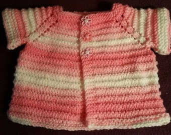 Short Sleeve Shrug for Baby verigated pink