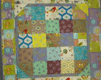 BOHEMIAN CHIC BABY Quilt Kit, Baby Charms Pattern, With Binding & Backing, Baby Quilt Kit, Clothworks Bohemian Chic Collection, Hippy Quilt