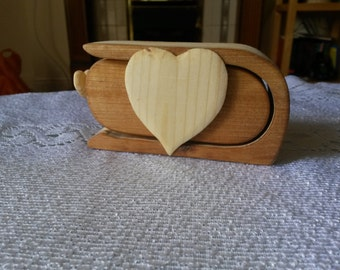 A small box for jewelry.