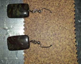 Dragon Blood Jasper Earrings