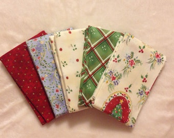 Holidays in Paris set of 5 fat quarters