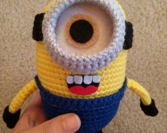 Amigurimi Medium Minion Kawaii Crochet Removable Goggle