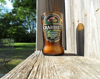 Sandalwood scented beer bottle candle