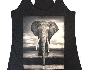Elephant graphic printed tank top