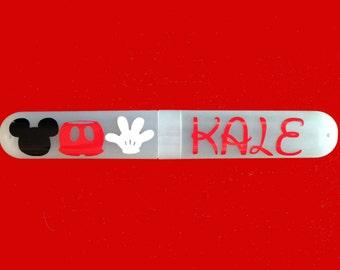 Disney Inspired, Personalized, Travel Toothbrush Holder