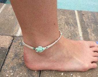 Turtle Hemp Anklet