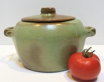 Frankoma 5W Lidded Casserole Dish in Prairie Green