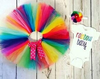 Rainbow baby set