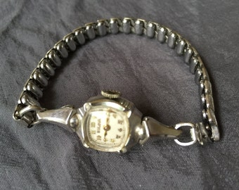Vintage Bulova Women's 10K White Gold Watch