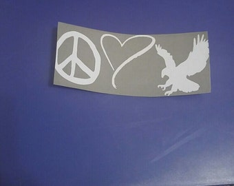 Peace Love Auburn Sticker