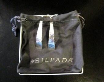 Retired-Silpada-Sterling Silver-WindingRiverEarrings,Silpada-Earrings,Silpada-Jewelry,SilverFrenchWireDropEarrings