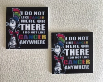 CAT in the HAT i dont like cancer, flat backed resins x 2