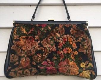 Floral Carpet Box Purse