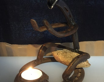 Cowboy candle holder