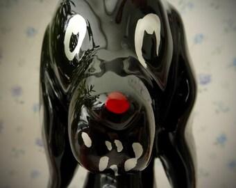 Vintage 1950's Black Retro Labrador Dog Figurine