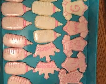 Girl Baby Shower Sugar Cookies