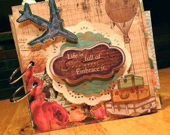Travel Themed Scrapbook
