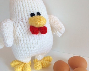 Benedict the Rooster - Hand Knit Rooster - Waldorf Toys - Farm Animals - Natural Toys - Baby Shower Gift - Pretend Play Toy - Easter Gift