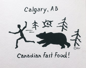 Canadian Fast Food Greeting Card