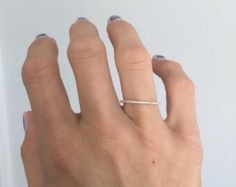 14k Yellow Gold Micro Pave Diamond Eternity Band Ring, Stacking Ring, Wedding Ring, Diamond Band, Fashion Ring, Wedding Band, Infinity Ring