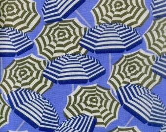 "Concentric Fabric: Nautical Umbrella Blue by Kanvas - Benartex Fabric  100% cotton fabric by the yard 36""x43""  (C72)"
