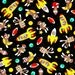 """Monkey Fabric: Sock Monkeys In Space by Windham  100% cotton by the yard 36""""x43"""" (K25)"""