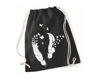 Jute bag gym bag sports bag black springs
