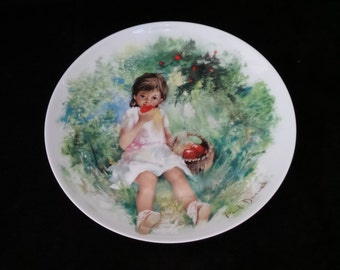 """1978 Limoges-Turgot Durand's Children """"Marie-Ange"""" Collector Plate by Paul Durand"""